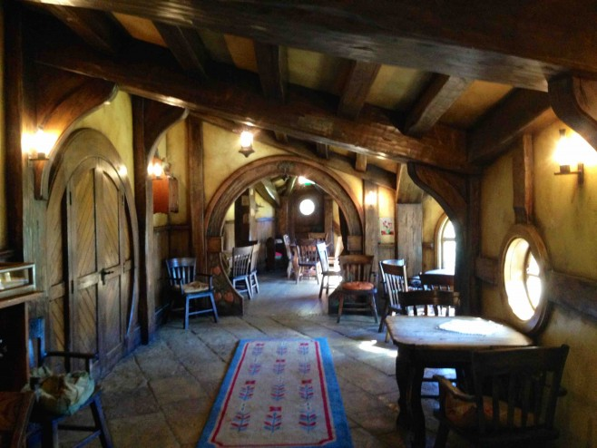 Inside the Green Dragon Inn where you can enjoy a glass of cold cider