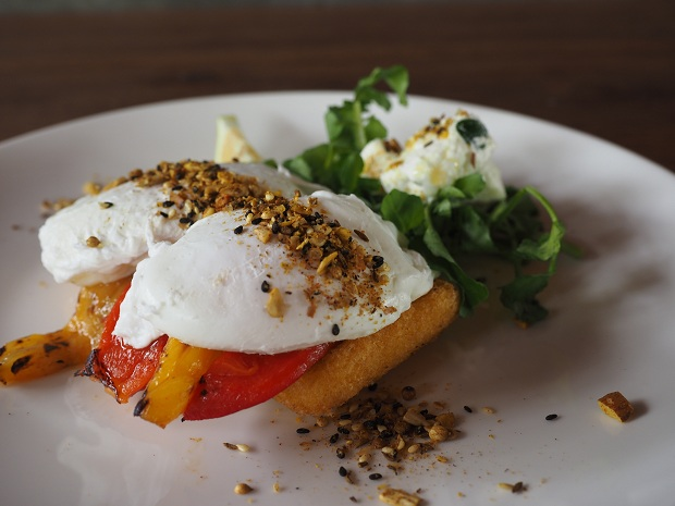 Dukkah Poached Eggs